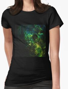 Abstract generated colorful shiny pattern graphic background Womens Fitted T-Shirt