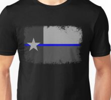 Blue Line Texas State Flag Unisex T-Shirt