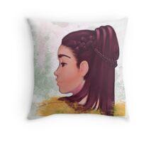 Female portrait Throw Pillow