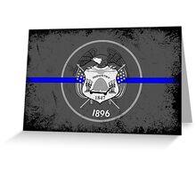 Blue Line Utah State Flag Greeting Card