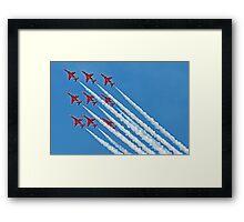 Red Arrows - Blue Sky - Farnborough 2014 Framed Print