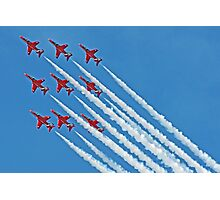 Red Arrows - Blue Sky - Farnborough 2014 Photographic Print
