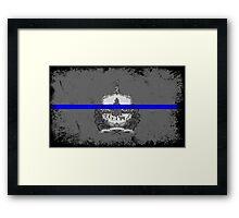 Blue Line Vermont State Flag Framed Print
