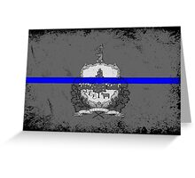 Blue Line Vermont State Flag Greeting Card