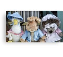 Alice's  Cuddly Woodland Creatures.............. Canvas Print