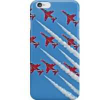 Red Arrows - Blue Sky - Farnborough 2014 iPhone Case/Skin