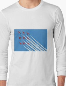 Red Arrows - Blue Sky - Farnborough 2014 Long Sleeve T-Shirt
