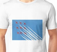 Red Arrows - Blue Sky - Farnborough 2014 Unisex T-Shirt
