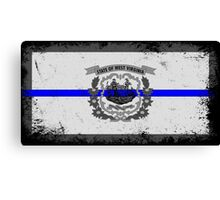 Blue Line West Virginia State Flag Canvas Print