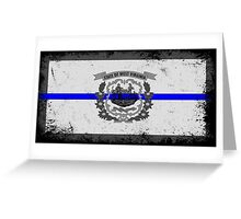 Blue Line West Virginia State Flag Greeting Card