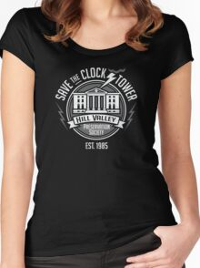 Hill Valley Preservation Society Women's Fitted Scoop T-Shirt