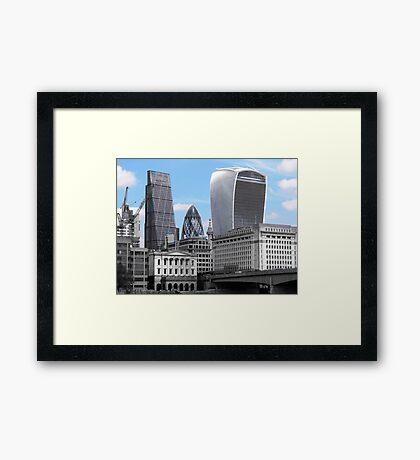 Cityscape - London; Blue  Framed Print
