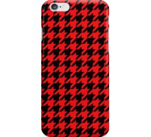Dogtooth / Houndstooth red iPhone Case/Skin