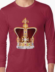English Coronation Crown Jewels Illustration Long Sleeve T-Shirt