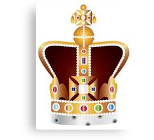 English Coronation Crown Jewels Illustration Canvas Print