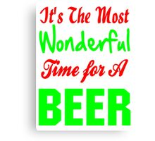 It's The Most Wonderful Time for a Beer Canvas Print