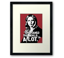 """BUFFY SUMMERS: """"She saved the world... A lot."""" Framed Print"""