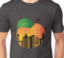 Atlanta Georgia Night Skyline Inside Peach Illustration Unisex T-Shirt