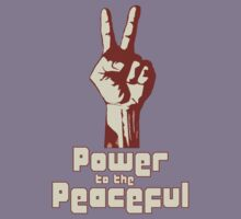 Power to the Peaceful Kids Clothes