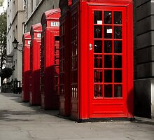 Red London Phone Box by Pixelglo Photography