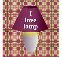 I Love Lamp Photographic Print