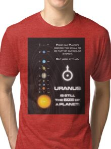 Uranus is the size of a planet Tri-blend T-Shirt