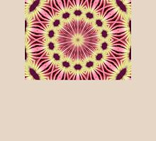 Pink and yellow daisy Mandala. Womens Fitted T-Shirt