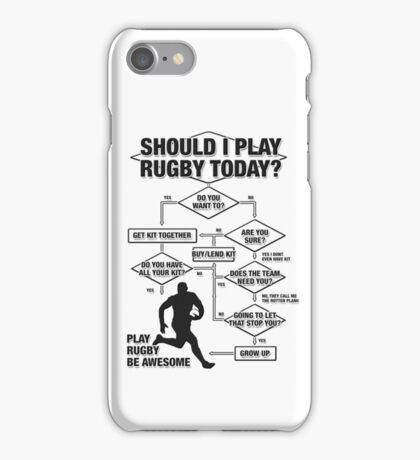 Should I Play Rugby Today? iPhone Case/Skin