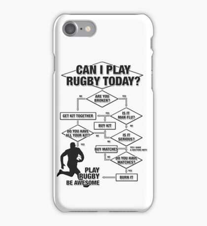 Can I Play Rugby Today? iPhone Case/Skin