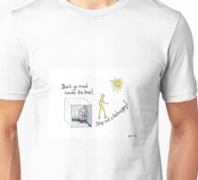 Mad inside the box - step out & be happy Unisex T-Shirt