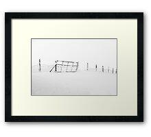 Gate in Snow Framed Print