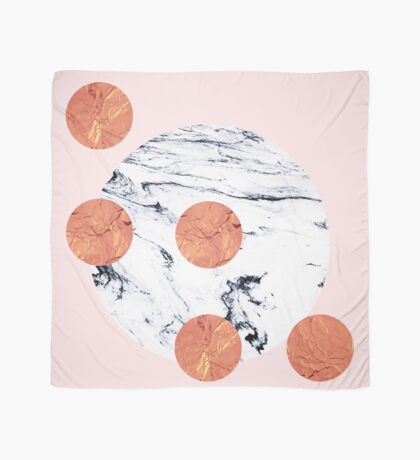 Marble + Pink + Copper #redbubble #lifestyle Scarf