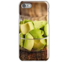 Avocado chopped iPhone Case/Skin