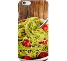 Pasta recipe with avocado and tomatoes iPhone Case/Skin