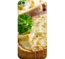 Oven baked toast with cheese and ham iPhone Case/Skin