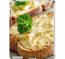 Oven baked toast with cheese and ham iPad Case/Skin