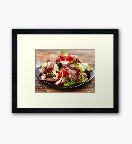 Tuna salad Framed Print