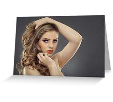 Beauty model Greeting Card