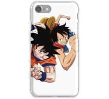 Goku and Luffy iPhone Case/Skin