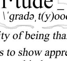 define: gratitude Sticker