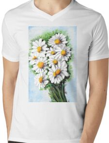 Daisy Mini Mens V-Neck T-Shirt