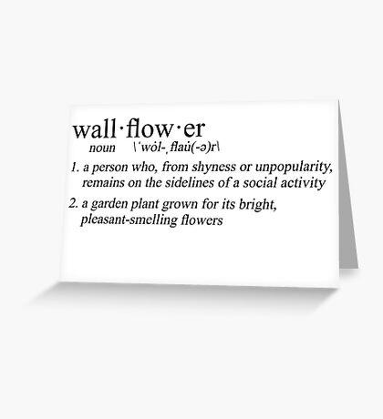 define: wallflower Greeting Card