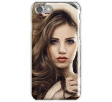Beauty model iPhone Case/Skin