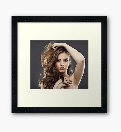 Beauty model Framed Print