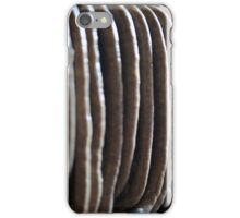 Homemade pork sausages hanging in the smokehouse iPhone Case/Skin