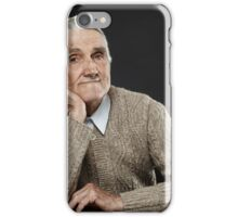 Happy senior man iPhone Case/Skin
