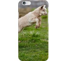 Baby goat jumping iPhone Case/Skin