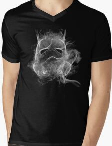 Smoke Stormtrooper Helmet - Black & White Mens V-Neck T-Shirt