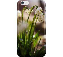 Snowdrop flowers in the forest iPhone Case/Skin