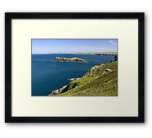 The Cornish coastline Framed Print
